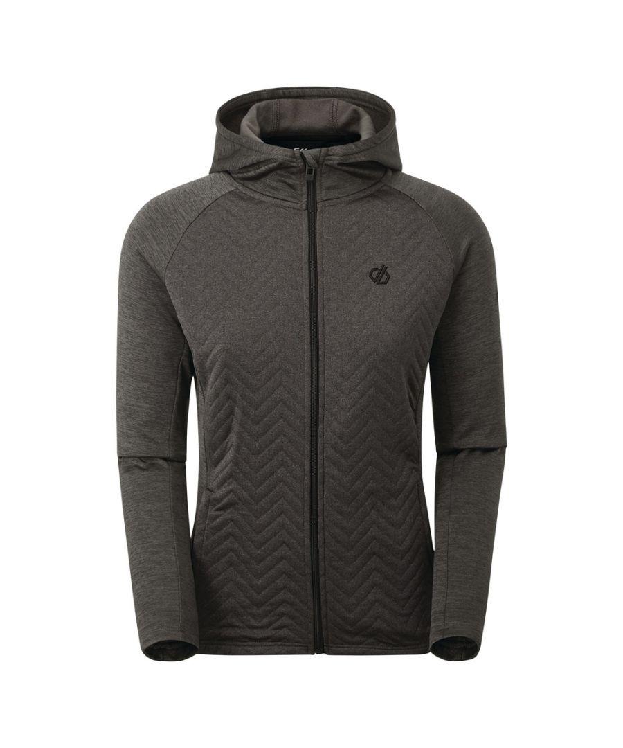 Image for Dare 2b Womens Faultless Hybrid Full Zip Hooded Sweatshirt