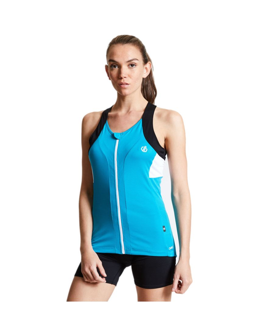 Image for Dare 2b Womens Regale Wicking Full Zip Cycling Vest Top