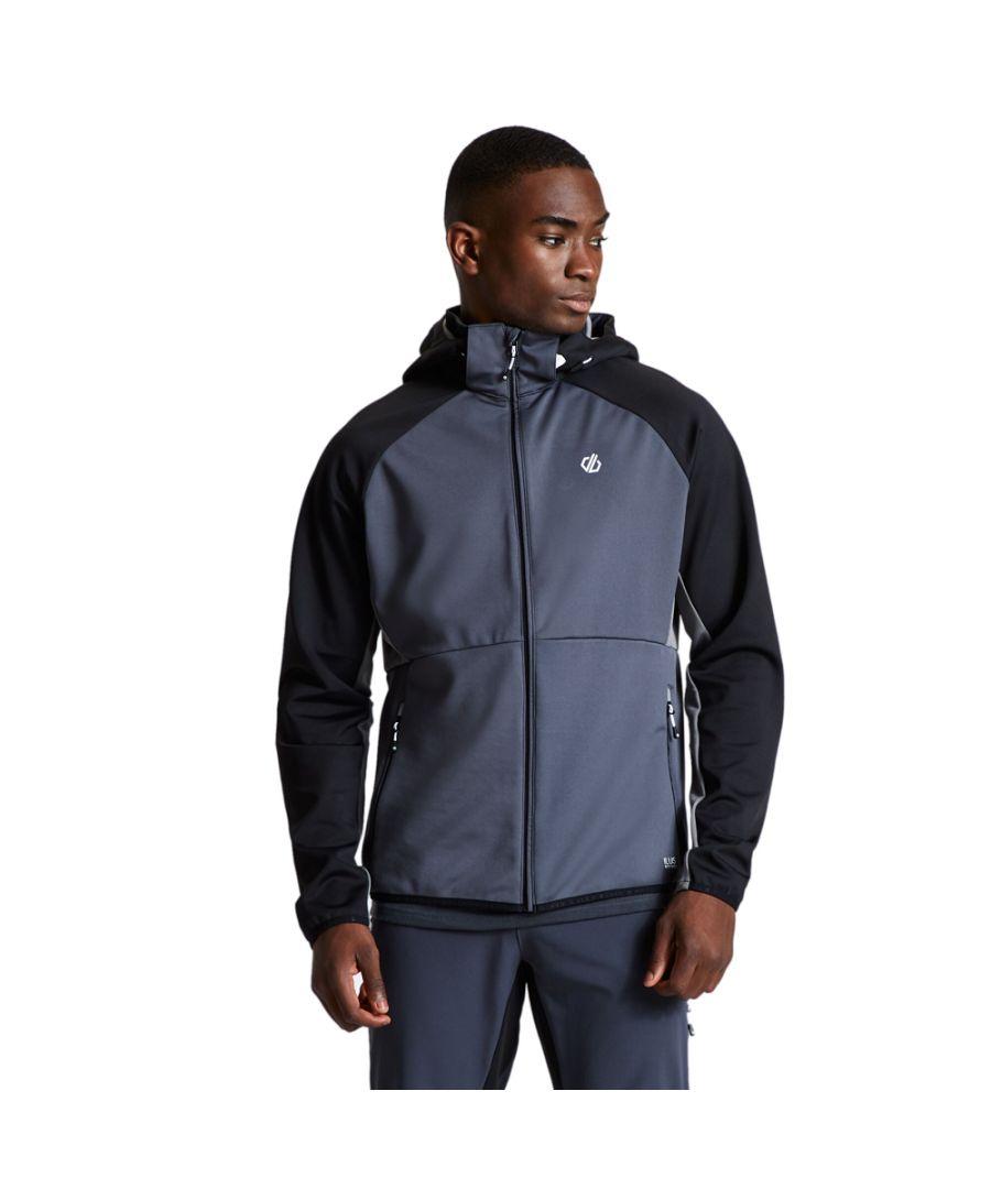 Image for Dare 2b Mens Endure Full Zip Hooded Softshell Jacket