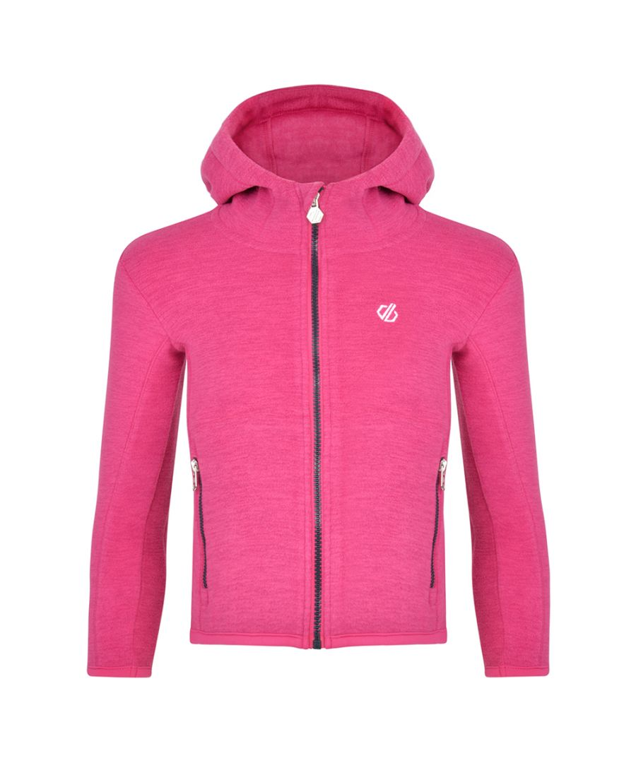 Image for Dare 2b Girls Genesis Polyester Full Zip Hooded Fleece Jacket