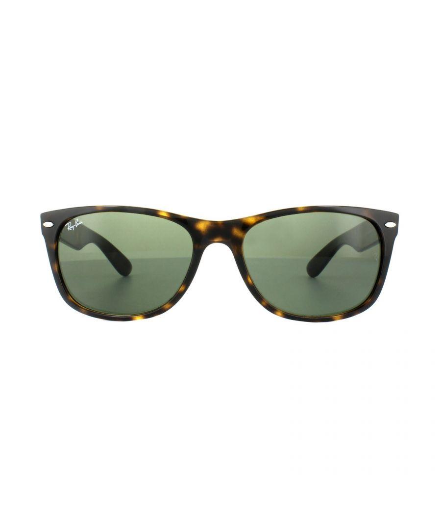 Image for Ray-Ban Sunglasses New Wayfarer 2132 902 Tortoise Green 58mm