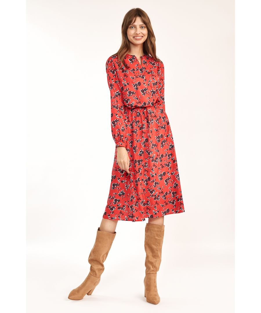 Image for Floral midi dress