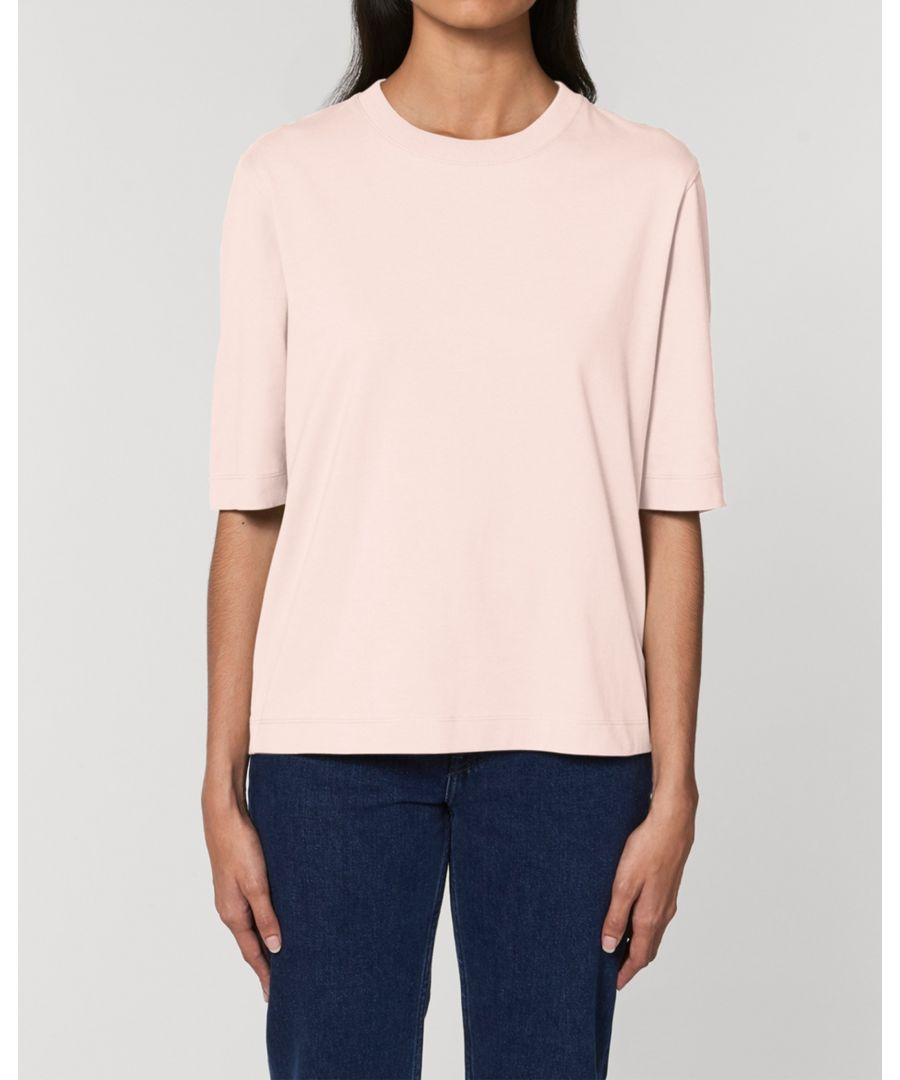 Image for Bandham Women's Boxy Heavy T-Shirt in Pink