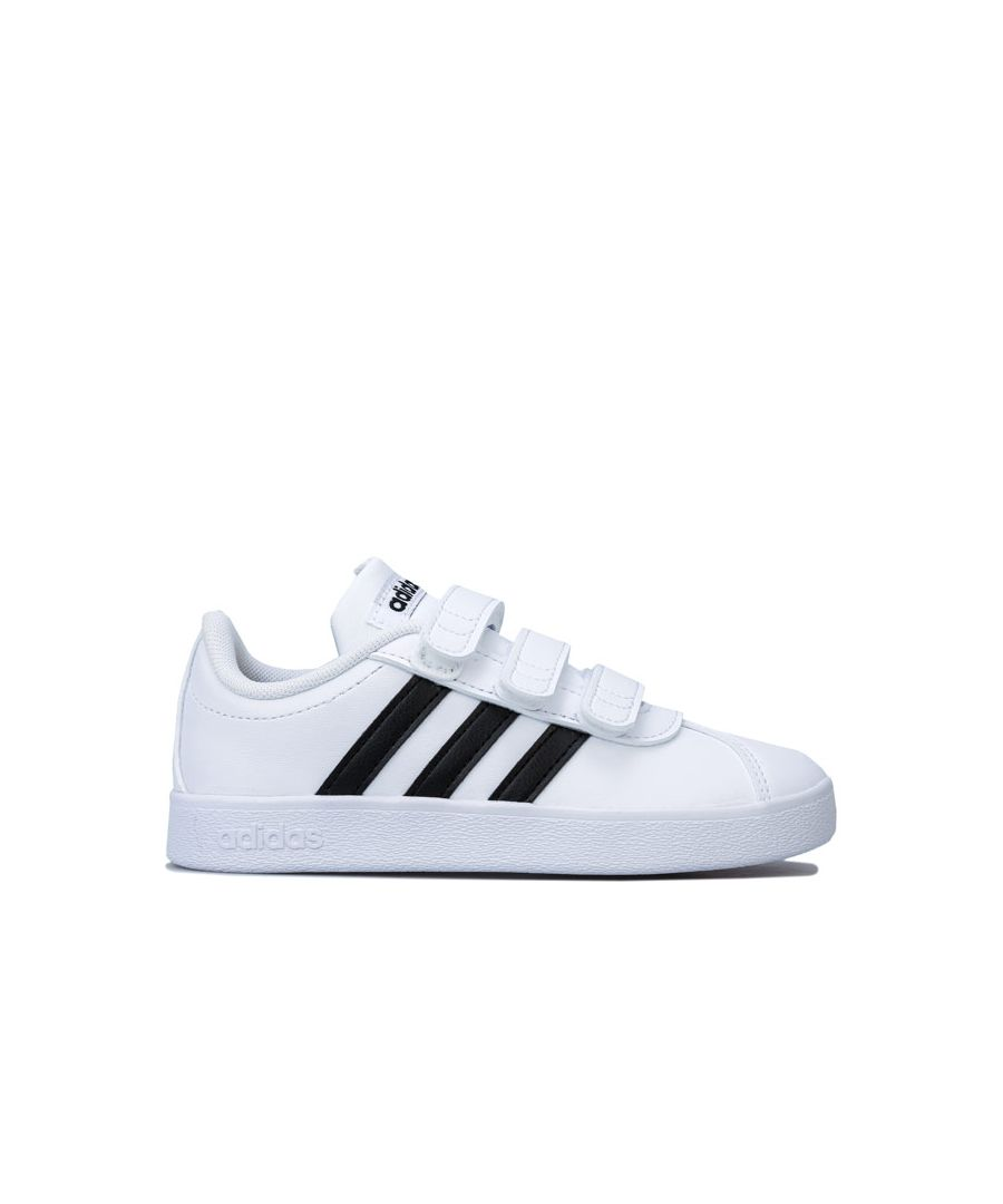 Image for Boy's adidas Children VL Court 2.0 Trainers in White Black