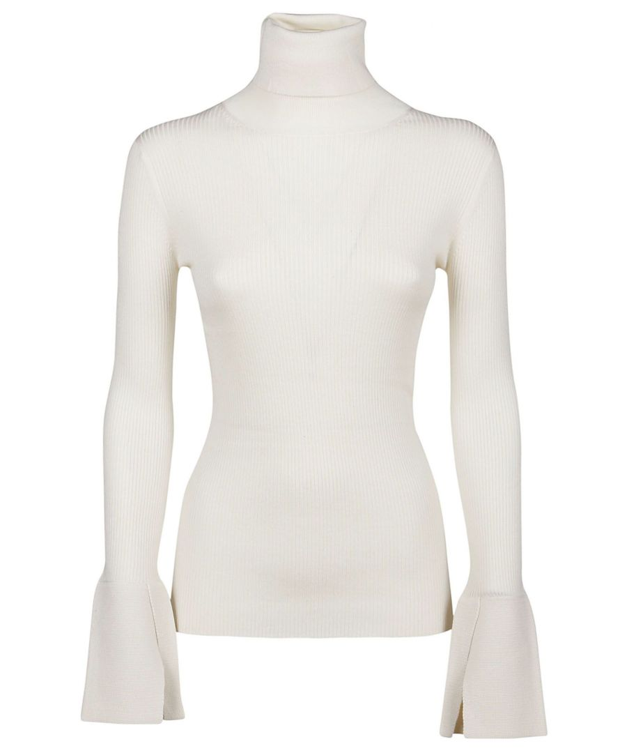 Image for PROENZA SCHOULER WOMEN'S R193727900101 WHITE SILK SWEATER