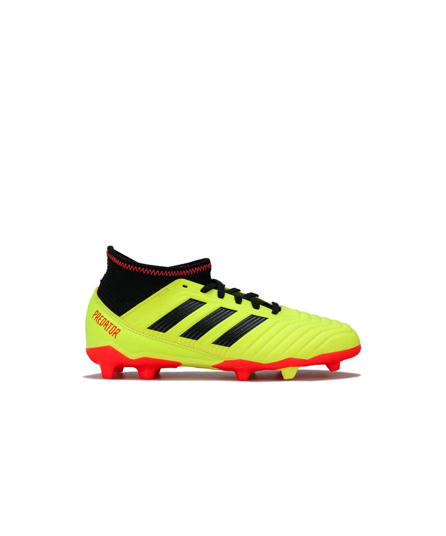 Image for Boy's adidas Junior Predator 18.3 FG Football Boots in Yellow
