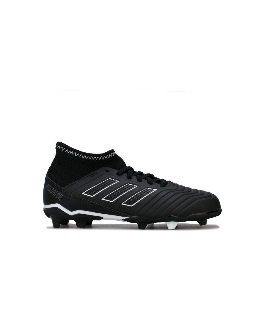 Image for Boy's adidas Children Predator 18.3 FG Football Boots in Black