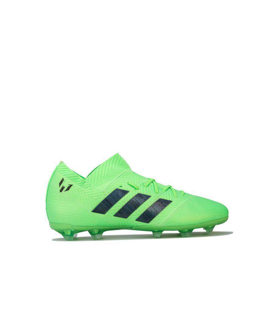 Image for Boy's adidas Children Nemeziz 18.1 Firm Ground Football Boots in Green