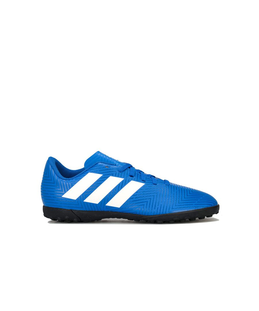 Image for Boy's adidas Junior Nemeziz Tango 18.4 TF Football Trainer in Blue