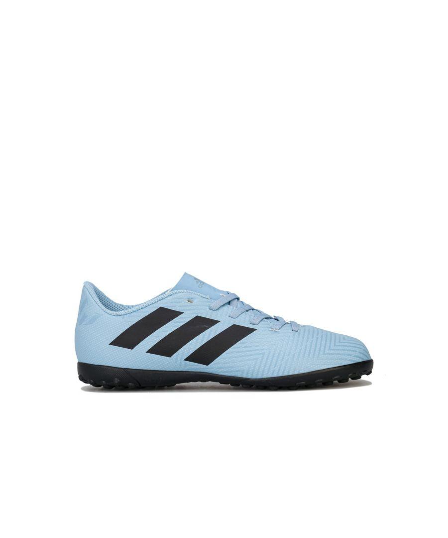 Image for Boy's adidas Junior Nemeziz Messi 18.4 TF Football Trainer in Blue