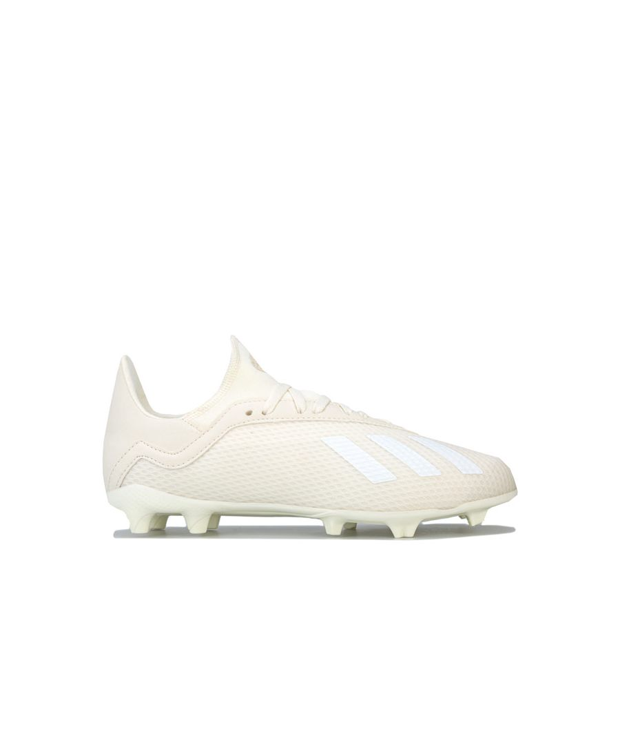 Image for Boy's adidas Children X 18.3 Firm Ground Football Boots in White