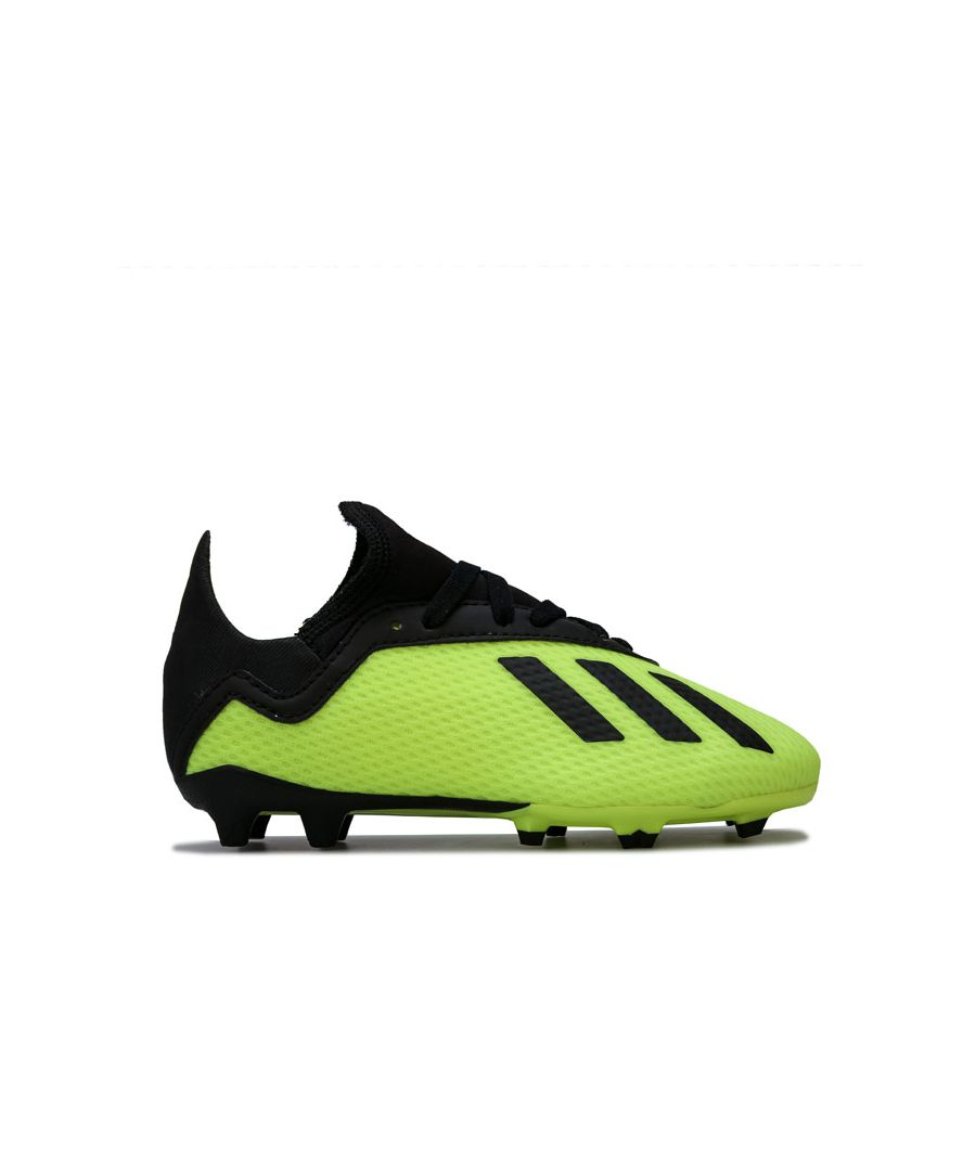 Image for Boy's adidas Junior Predator 18.3 Firm Ground Football Boots in Yellow