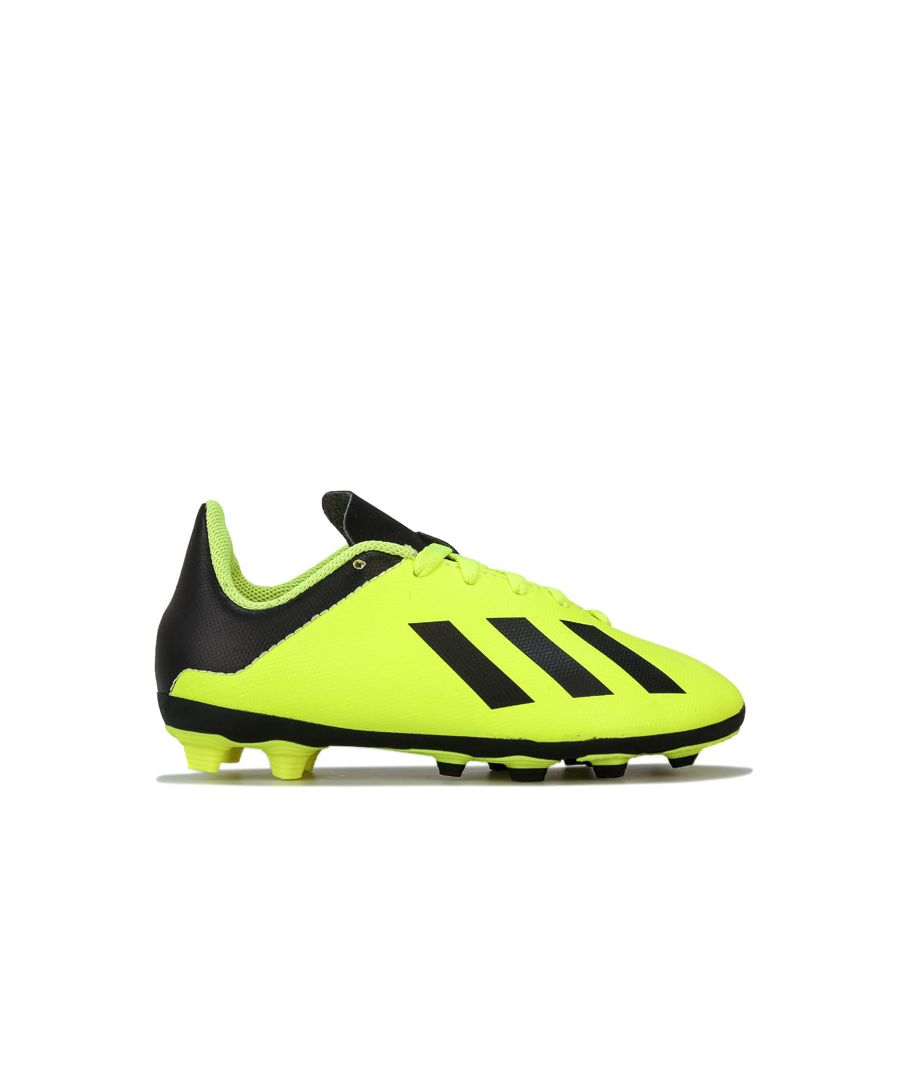 Image for Boy's adidas Children X 18.4 FxG Football Boots in yellow black