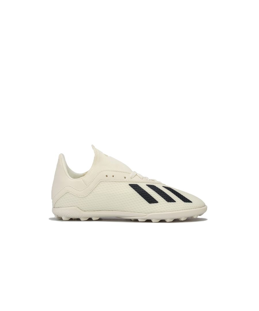 Image for Boy's adidas Junior X Tango 18.3 TF Football Trainers in Off White