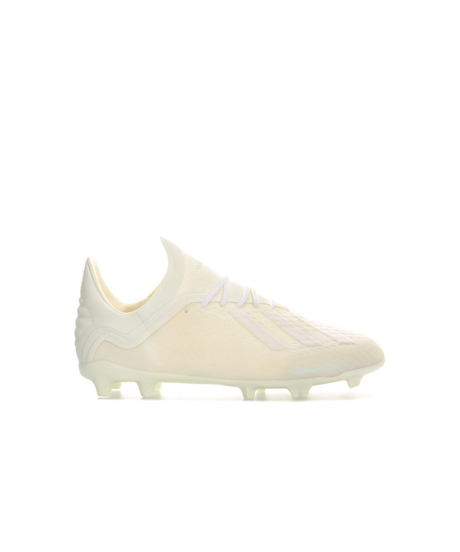 Image for Boy's adidas Children X 18.1 FG F Boots in Off White