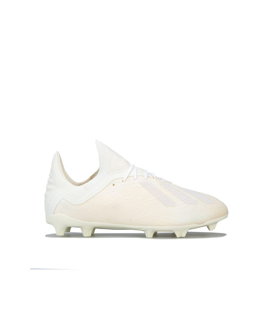 Image for Boy's adidas Junior X 18.1 FG F Boots in Off White