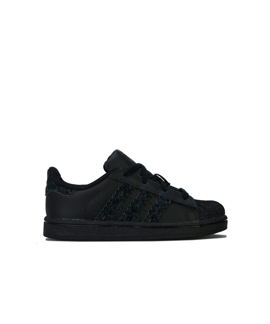 Image for Boy's adidas Originals Infant Superstar Trainers in Black