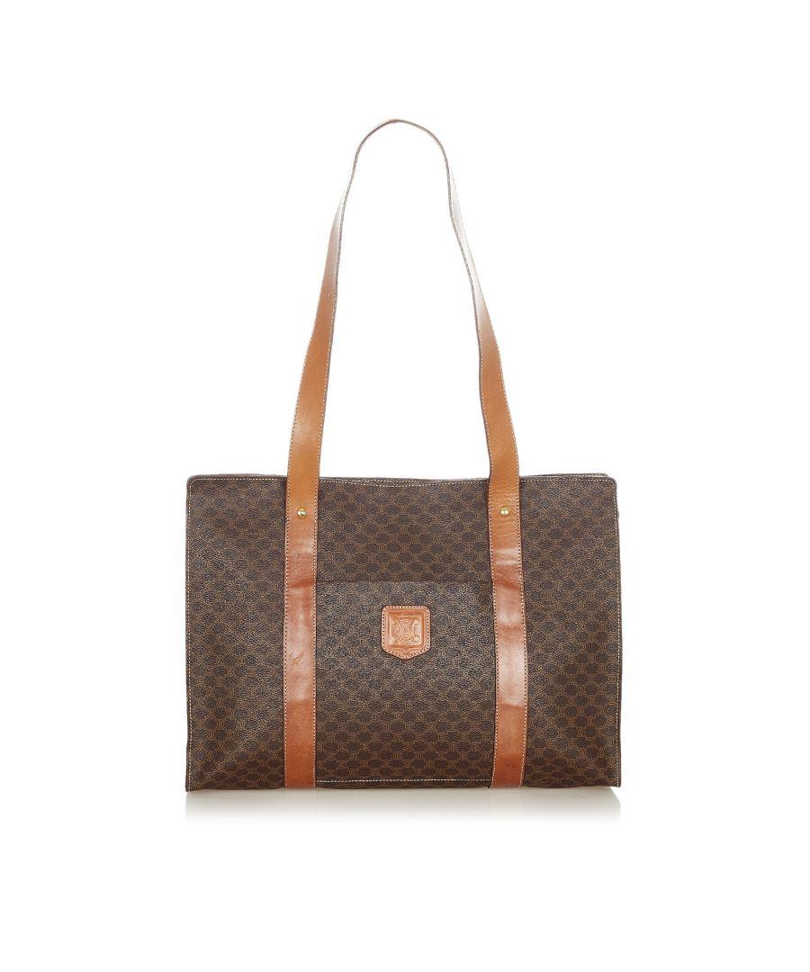 Image for Vintage Celine Macadam Tote Bag Brown