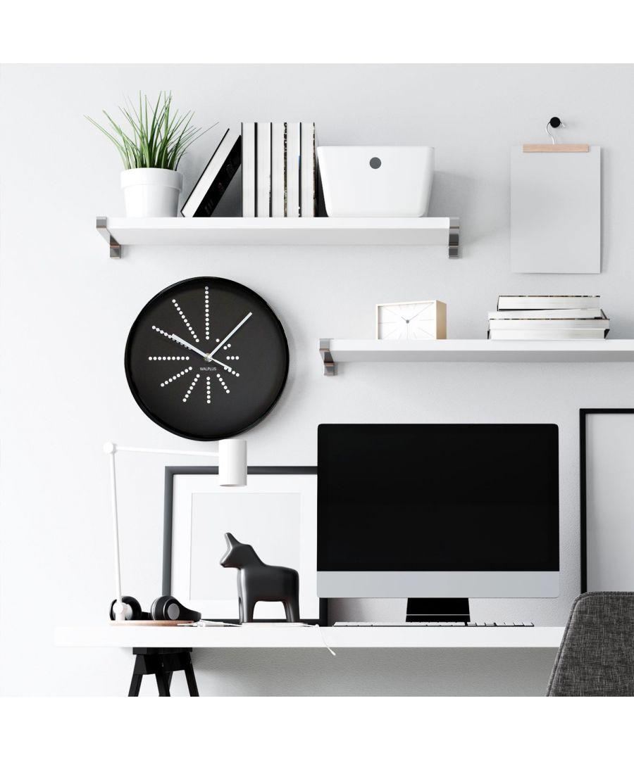 Image for Black Walplus Clock Minimalistic Dots Design wall clock, wall clock modern 25 cm x 25 cm x 4.5 cm 1 piece
