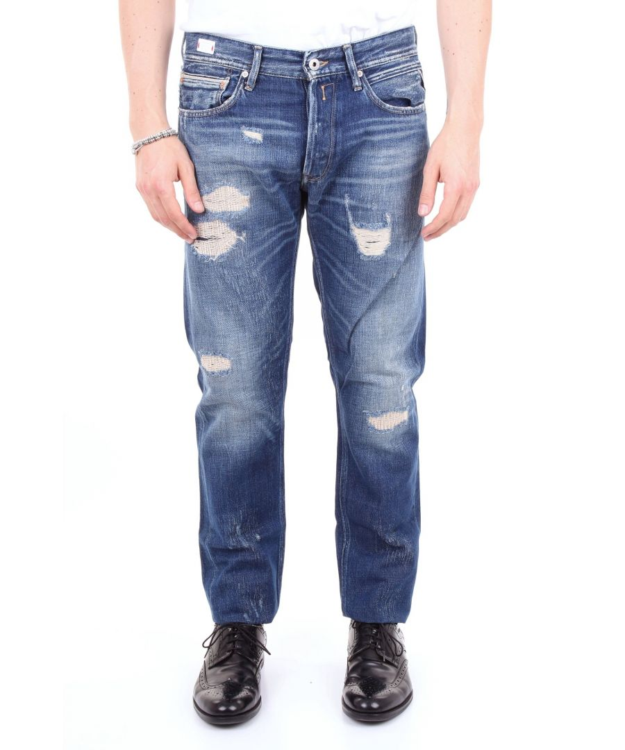 Image for REPLAY MEN'S MA946100236RBLUJEANS BLUE COTTON JEANS