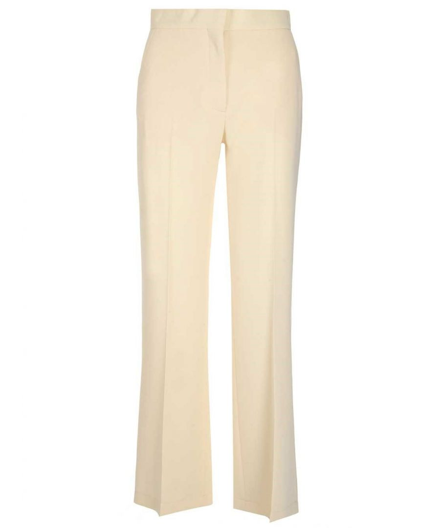 Image for SEE BY CHLOÉ WOMEN'S CHS20SPA02012119 WHITE COTTON PANTS