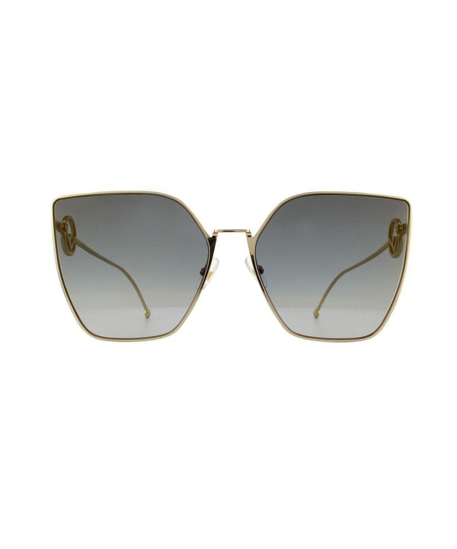 Image for Fendi Sunglasses 0323/S FT3 FQ Light Gold Dark Grey Gradient