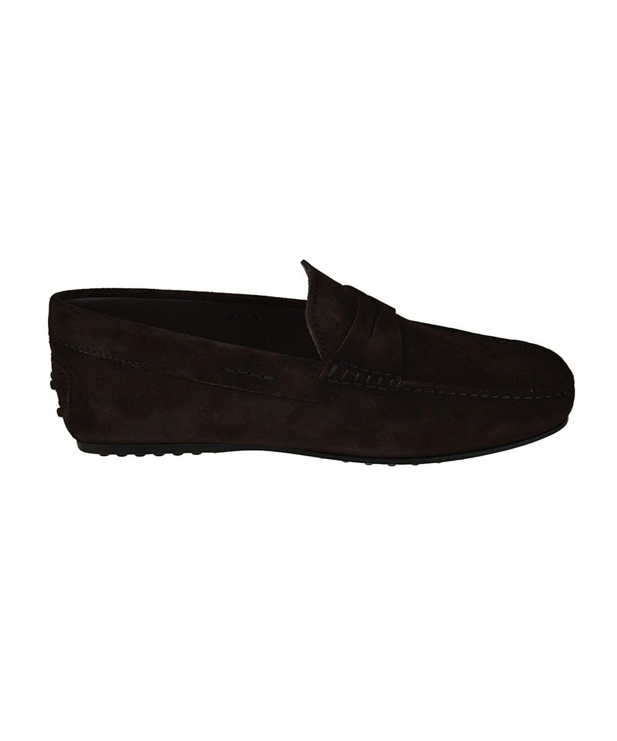 Image for TOD'S MEN'S XXM0LR00011RE0S800 BROWN SUEDE LOAFERS