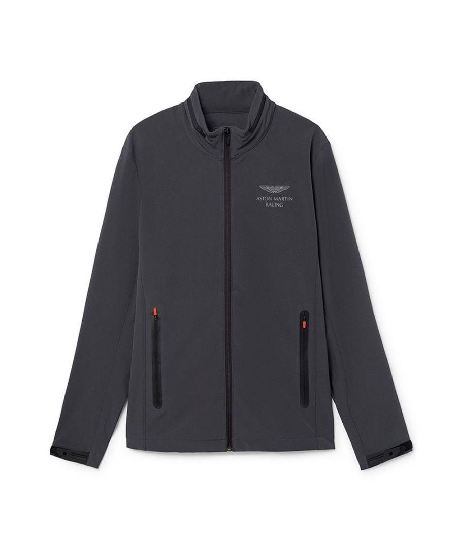Image for Men's Hackett Aston Martin Racing, Soft Shell Zipped Sweater in Dark Grey