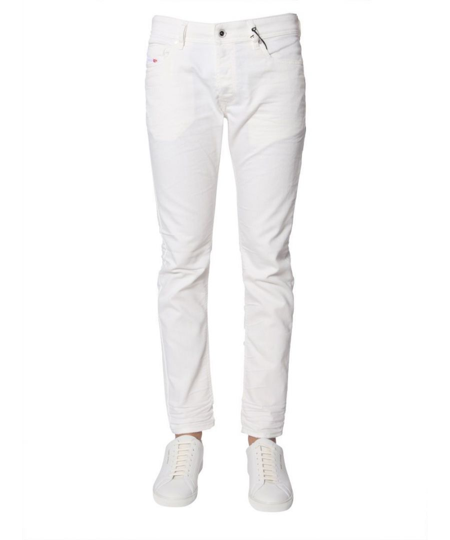 Image for DIESEL MEN'S 00S7VF084CY100 WHITE COTTON JEANS