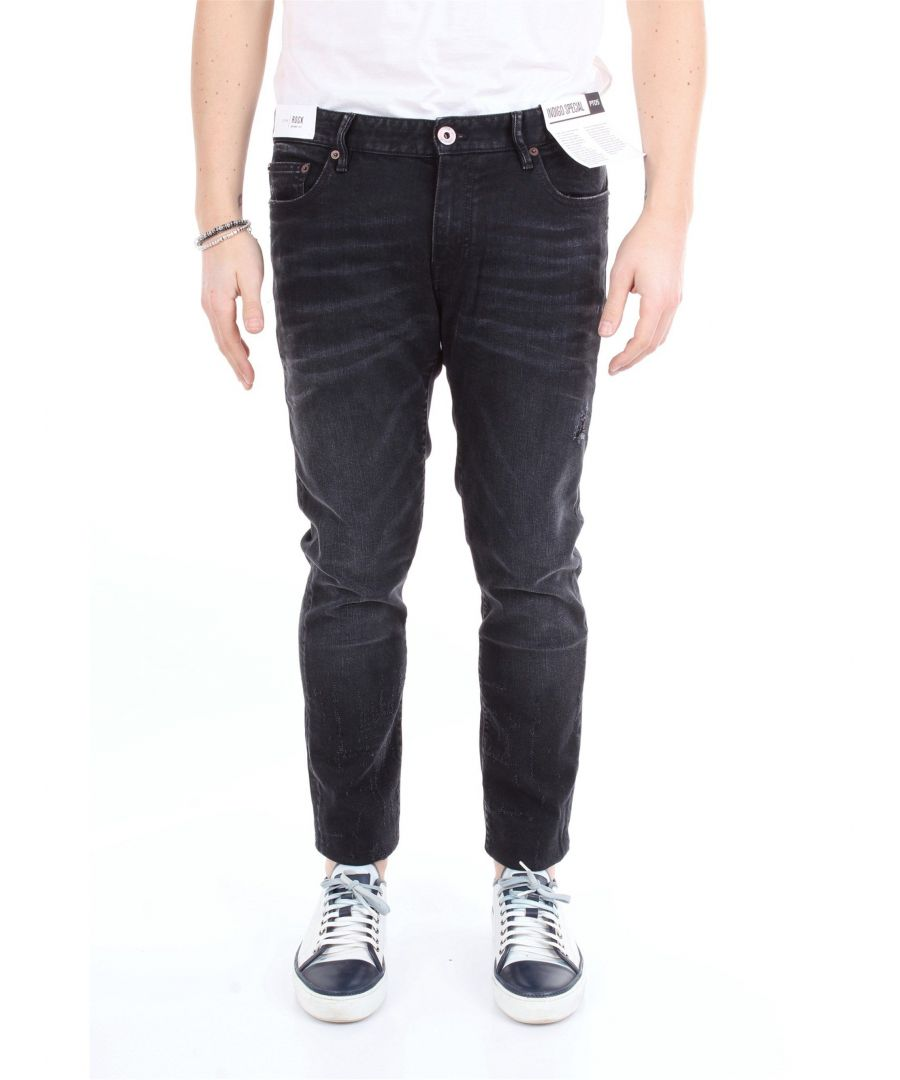 Image for PT01 MEN'S CA36C5KJ25Z50DESNERO BLACK COTTON JEANS