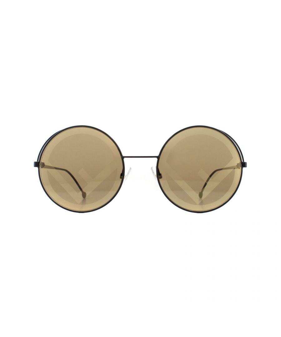 Image for Fendi Sunglasses FF 0343/S Fendirama 807 EB Black Brown with Gold Fendi F