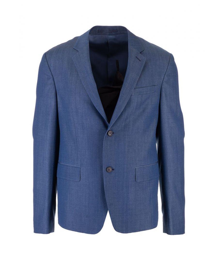 Image for PRADA MEN'S SD020S1821VTJF0081 BLUE WOOL BLAZER