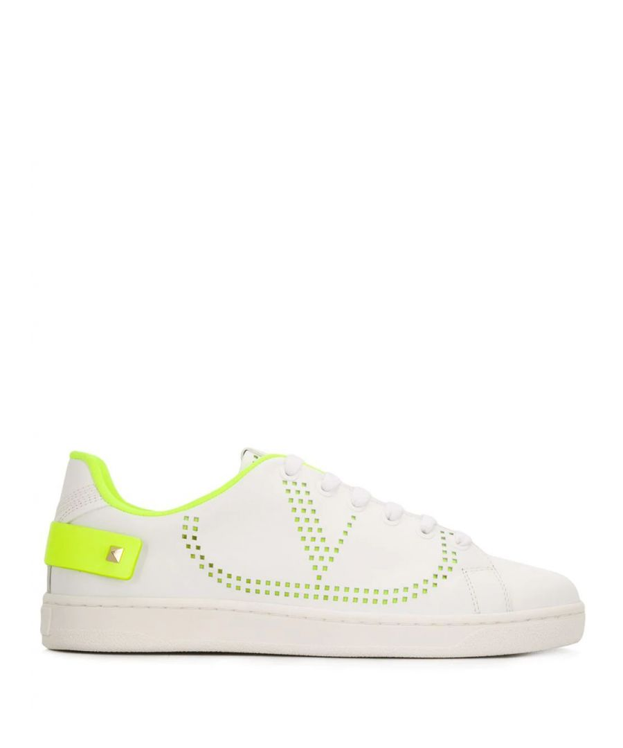 Image for VALENTINO WOMEN'S TW2S0M20MSS15K WHITE LEATHER SNEAKERS