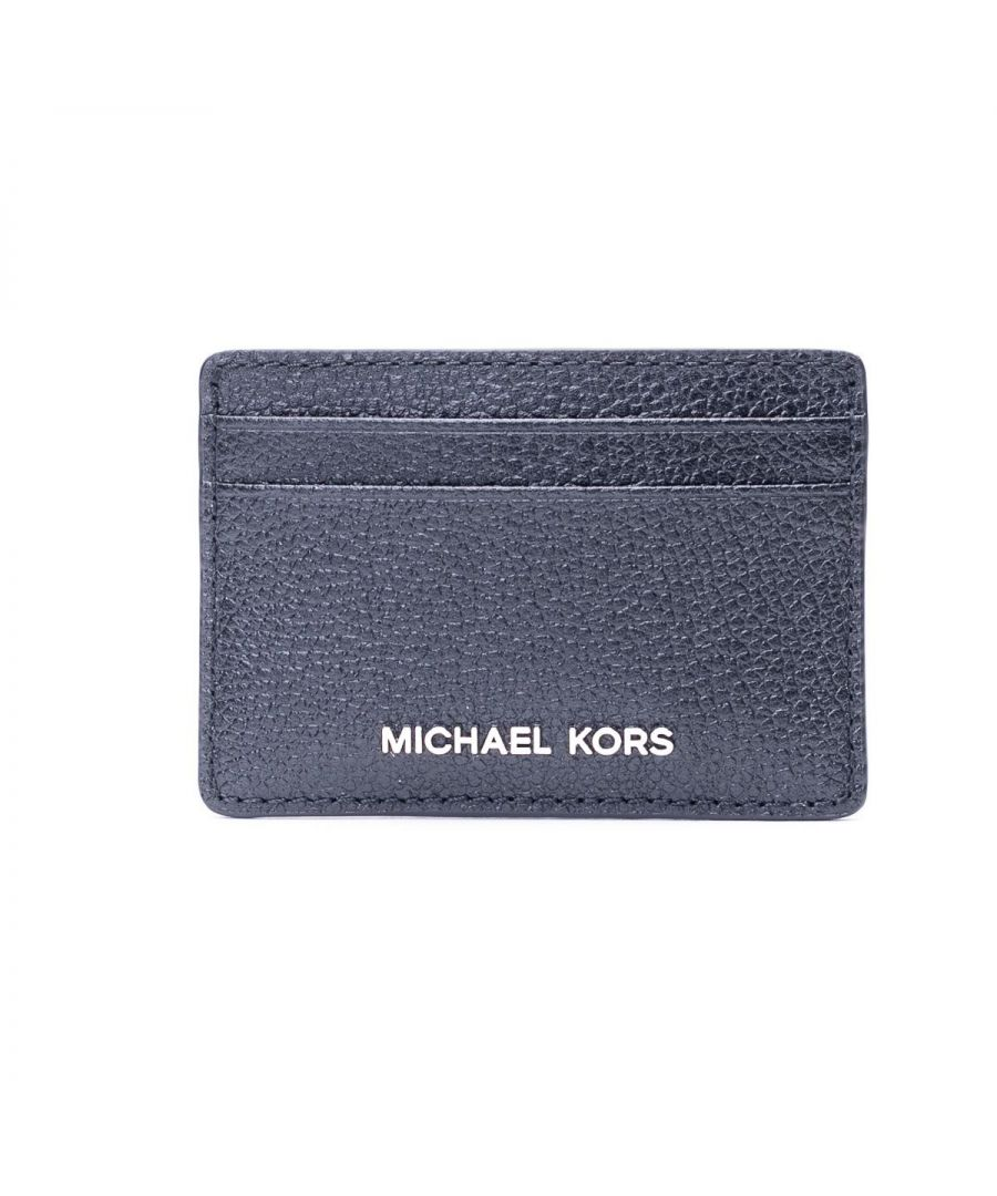 Image for MICHAEL KORS WOMEN'S 34H9SJ6D1L001 BLACK LEATHER CARD HOLDER