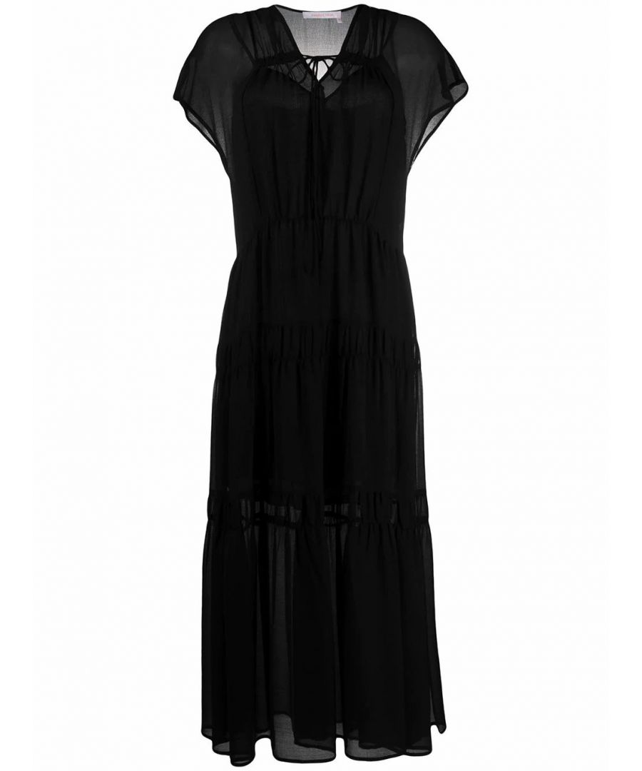 Image for SEE BY CHLOÉ WOMEN'S CHS20URO07025001 BLACK VISCOSE DRESS