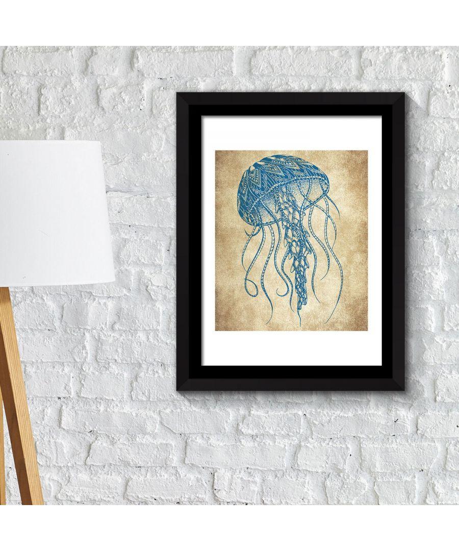 Image for Framed Art 2in 1 Jelly Fish Wall Art Poster Framed Photo, Framed Art