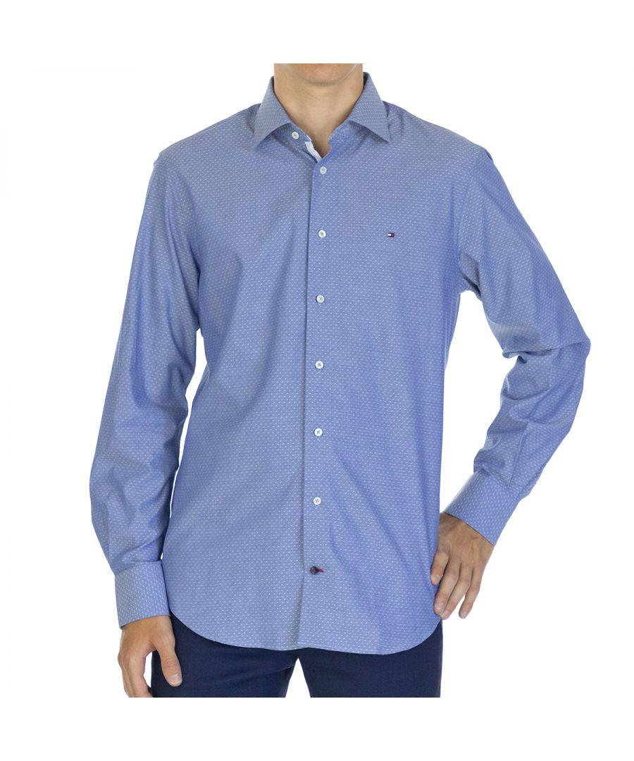 Image for Tommy Hilfiger Men Shirt Dobby Regular fit  Full sleeve Blue