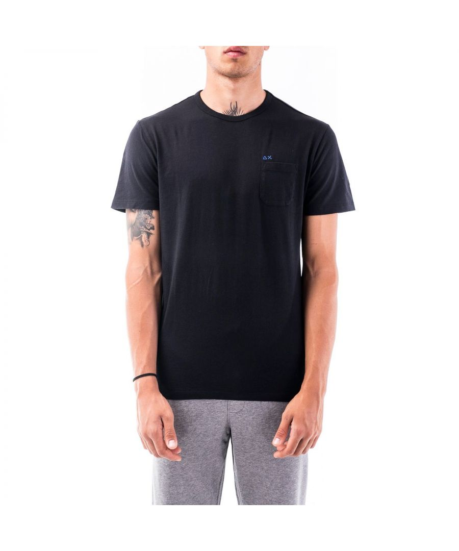 Image for SUN 68 MEN'S T3010111 BLACK COTTON T-SHIRT