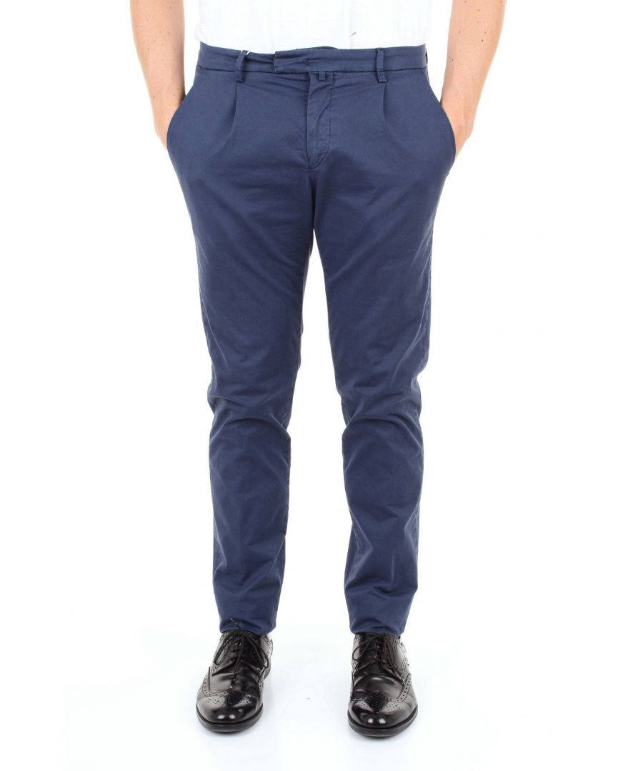 Image for BRIGLIA 1949 MEN'S BG073908BLU BLUE COTTON PANTS