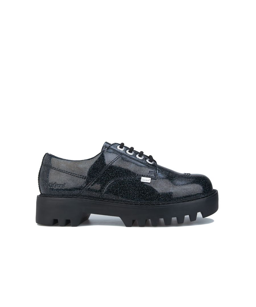 Image for Women's Kickers Kizziie Derby Patent Leather Shoes in Black