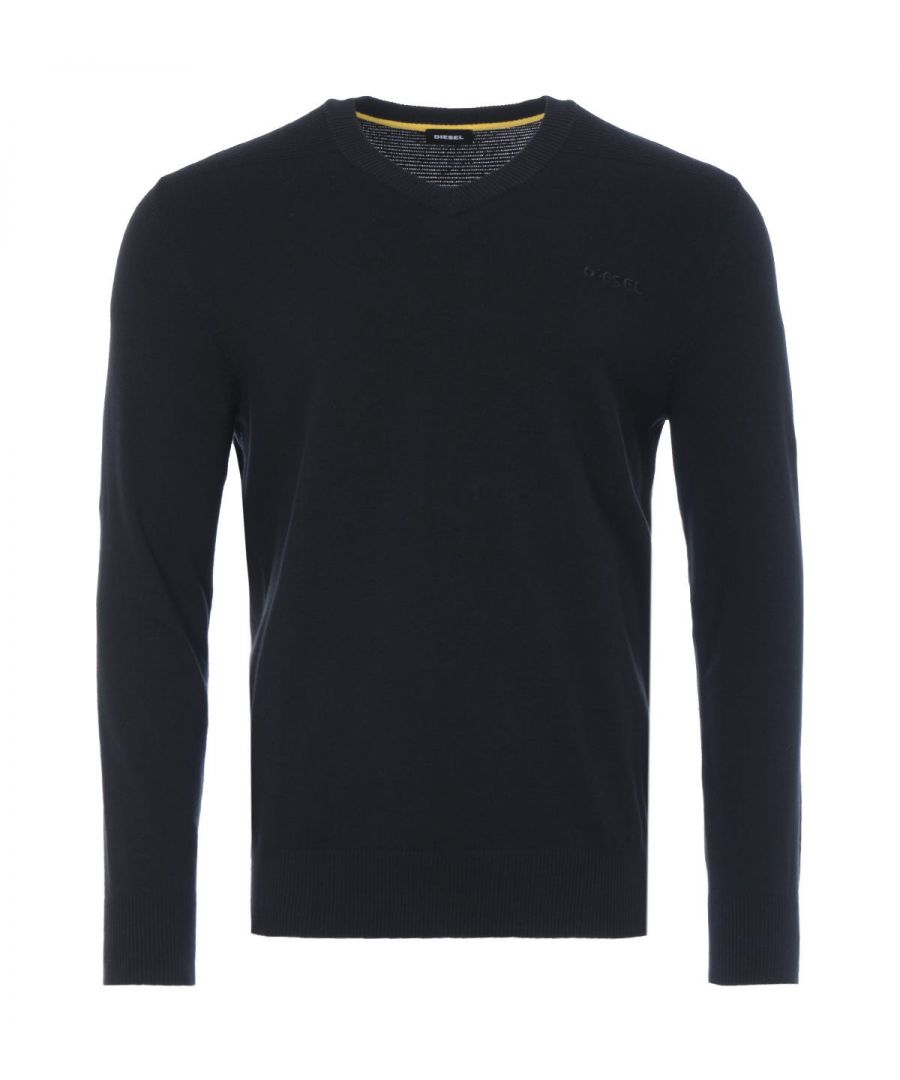 Image for Diesel K-Aroud V-Neck Sweater - Black