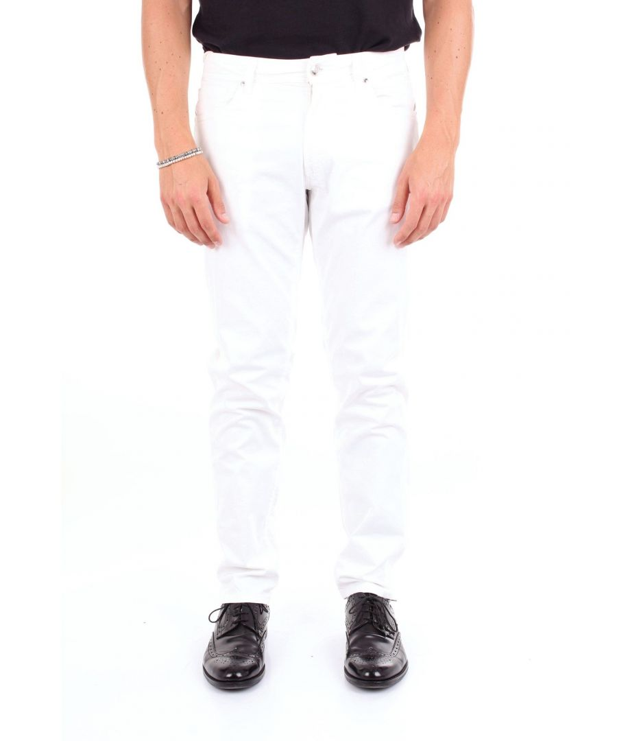 Image for MICHAEL COAL MEN'S GEORGE2595WHITE WHITE COTTON PANTS