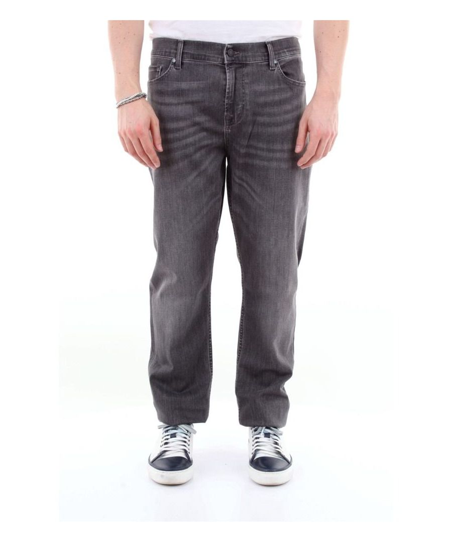 Image for 7 FOR ALL MANKIND MEN'S JSD4R730PEGRIGIOSCURO GREY COTTON JEANS