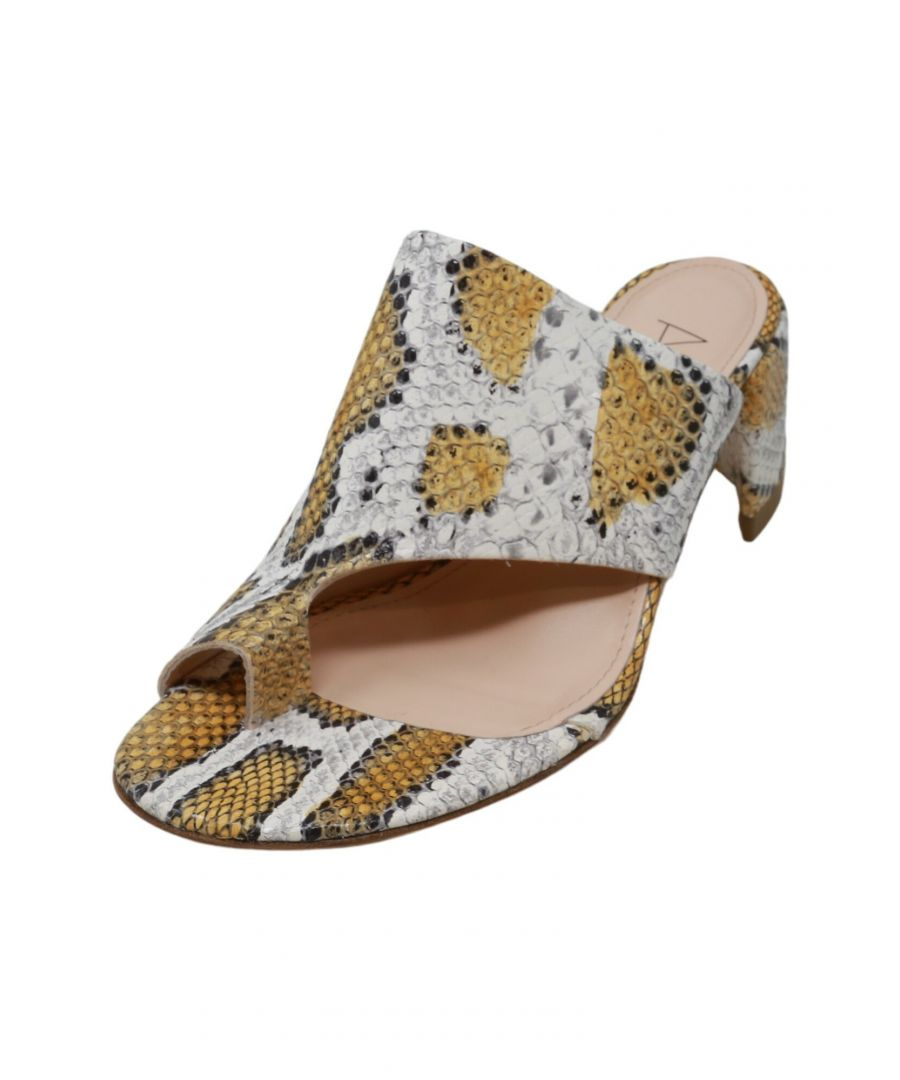 Image for Agl Women's Scale Mule Sunflower-Ambra Ankle-High Leather Heel - 6.5M