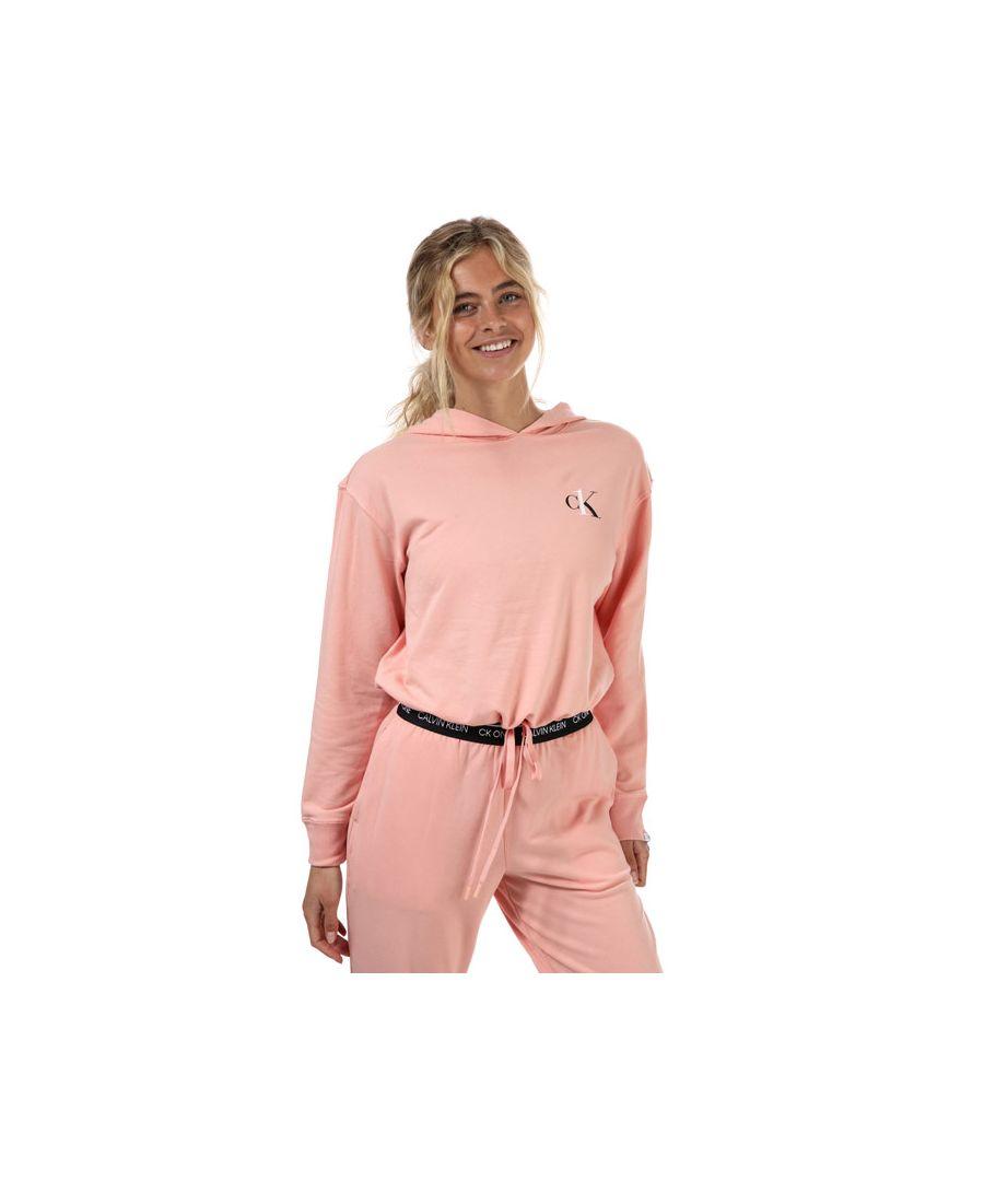 Image for Women's Calvin Klein Lounge Hoodie Dusky Pink 6-8In Dusky Pink