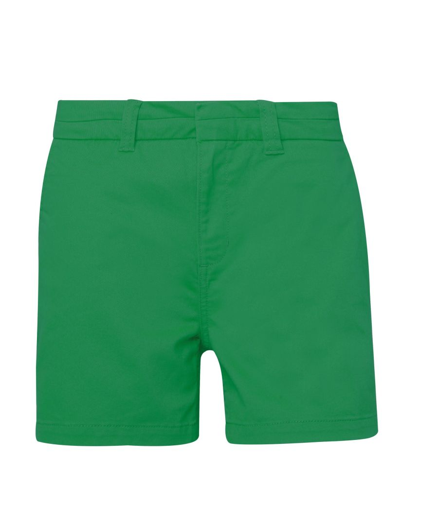 Image for Asquith & Fox Womens/Ladies Classic Fit Shorts (Kelly Green)