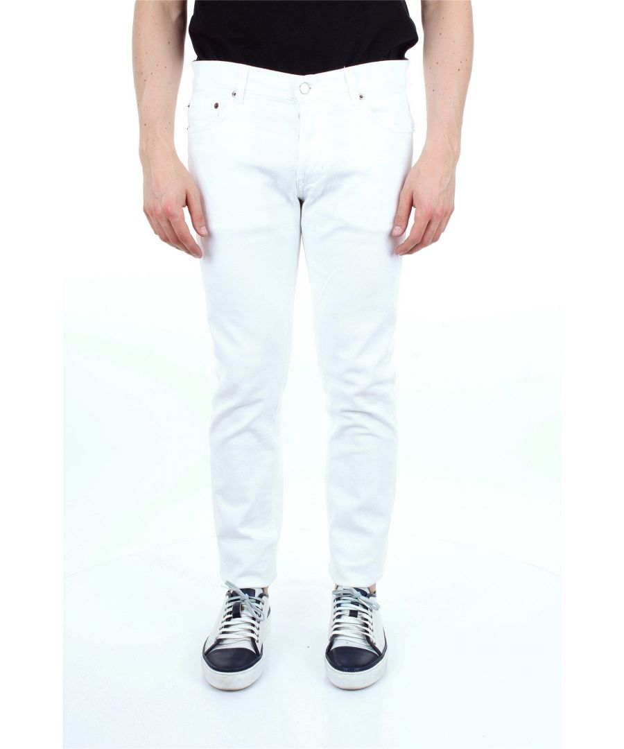 Image for AGLINI MEN'S MARKDIRBIANCO WHITE COTTON JEANS