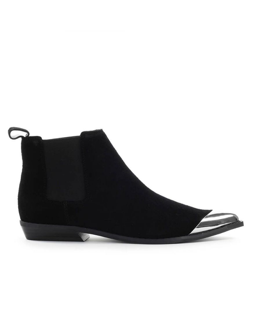 Image for CALVIN KLEIN WOMEN'S B4R0831001 BLACK SUEDE ANKLE BOOTS