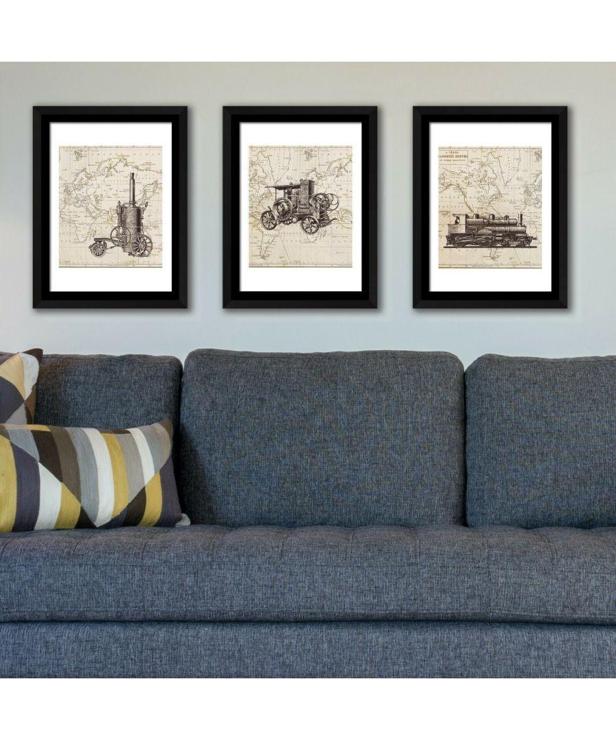Image for Framed Art History of transportation Framed Photo, Framed Art