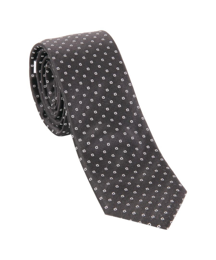 Image for UNGARO MEN'S U07C25 BLACK SILK TIE